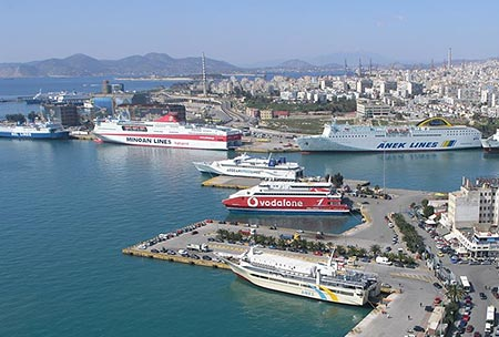 Piraeus port rent a car